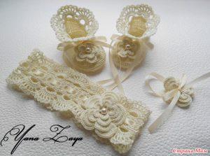 Vestido bautismo crochet ganchillo conjunto,