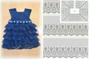Imagen del vestido azul a crochet 1