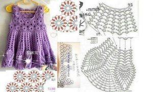 Imagen del vestidito lila 2 crochet
