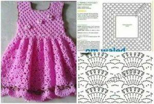 Imagen vestidito rosa 3 crochet