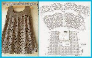 Imagen del vestidito marron crochet