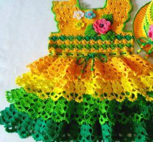 Vestido de colores a crochet 2 Majovel, lana, paso a paso , DIY
