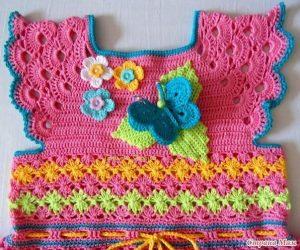 Vestido de colores a crochet y ganchillo 3 Majovel, paso a paso, DIY