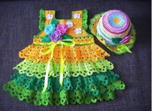 Vestido a colores crochet 4, MAjovel, paso a paso, DIY