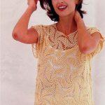 Blusa es espiral a crochet