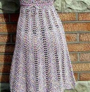 Falda color hueso a crochet