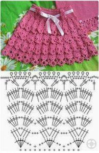 Imagen de Falda new rosa crochet ganchillo