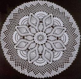 Imagen patron centro flores 1 a crochet