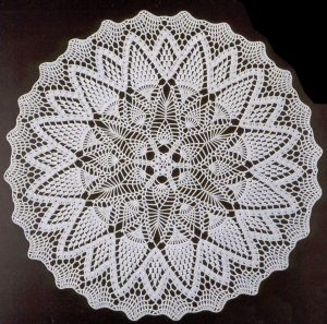 Imagen patron centro flores 2 a crochet
