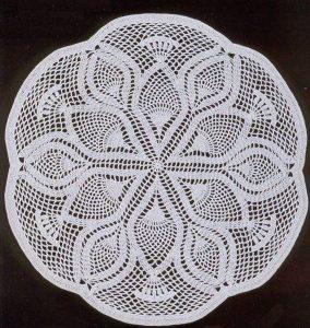 Imagen patron centro flores 4 a crochet