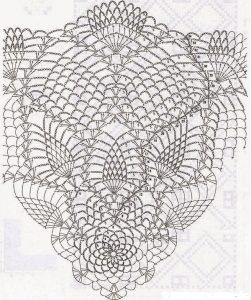 Patron centro flores 4 a crochet