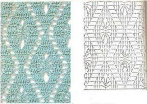 Patron falda azul marino a crochet
