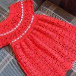 Imagen del Vestido rojo a crochet y ganchillo rojo principal