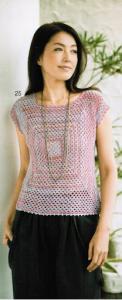 Blusa cuadrada a crochet
