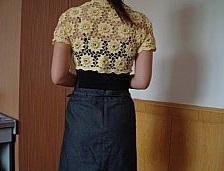 Bolero de espalda a crochet