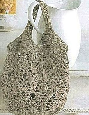 Bolso gris a crochet y ganchillo. Majovel crochet