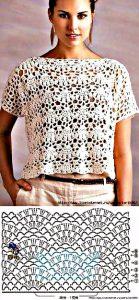 Blusa blanca preciosa a crochet y ganchillo. Majovel Crochet