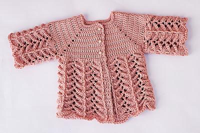 1 - Crochet IMAGEN Chambrita rosa muy fácil y sencilla. MAJOVEL CROCHET