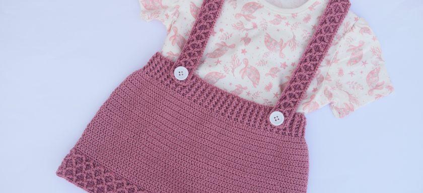 1 - Crochet Imagen Falda con tirantes a crochey y ganchillo por Majovel Crochet paso a paso facil sencillo familia batera punto alto punto bajo doble